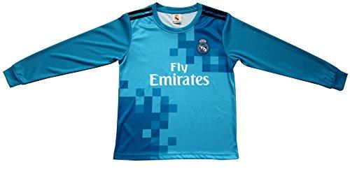 new product 2f0a7 5fb90 GamesDur 2017/2018 Real Madrid Ronaldo #7 Away Blue Long