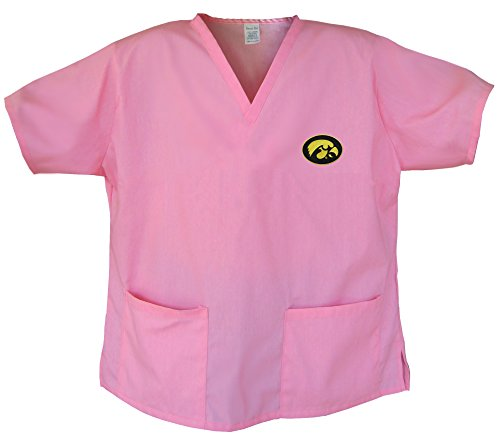 Iowa Hawkeyes Pink Scrubs Tops