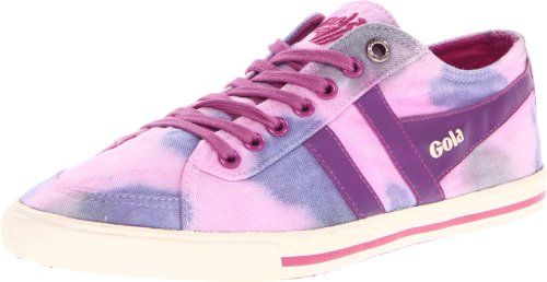 Gola Women's Quota Dye CLA187 Fashion Sneaker,Plum/Purple/Pink,10 M US