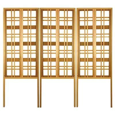 Arboria Carmel Landscape Privacy Screen - Western Red Cedar Trellis Made in USA, 68 Inches High, Pack of 3 ()