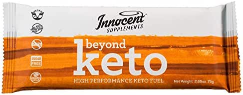 Innocent Supplements Beyond Keto Bars | 3 Pack, 2.65oz Bars | High Performance Keto Fuel | Vegan, Sugar Free, Zero Carb Protein Bars Made with Organic Chocolate
