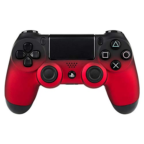 eXtremeRate Soft Touch Grip Front Housing Shell Faceplates for PS4 Controller JDM-001 JDM-011 JDM-020 - Shadow Red