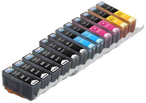 Skia Ink Cartridges ¨ 12 Pack Compatible with Canon 225/226(PGI-225BK CLI-226BK CLI-226C CLI-226M CLI-226Y) for PIXMA iP4820, PIXMA iP4920, PIXMA iX6520, PIXMA MG5120, PIXMA MG5220, PIXMA MG5320, PIXMA MX712, PIXMA MX882, PIXMA MX892