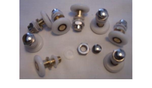 Juego de OF 8 brazos guías de ruedas para mampara de ducha de soportes para cañas de pescar 19, 21, 23, 25, 26, 27, 28 mm sas-d6, 19 mm x 5 mm, juego de 8: Amazon.es: Hogar