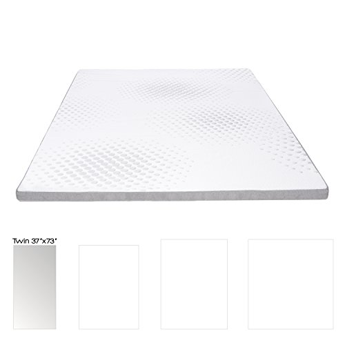 Milliard 2-Inch Gel Memory Foam Mattress Topper with Washable Removable Soft Bamboo Cover - Twin