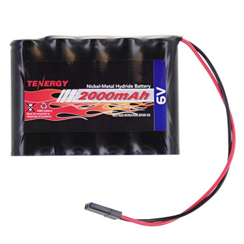 - Tenergy NiMH Receiver RX Battery with Hitec Connectors 6V 2000mAh High Capacity Rechargeable Battery Pack for RC Airplanes/RC Aircrafts and More