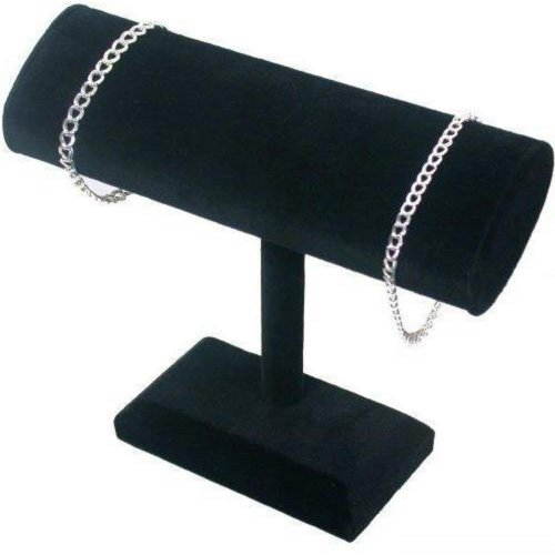 Black Velvet Oval T-Bar Bracelet & Necklace Jewelry Display - Oval T-bar