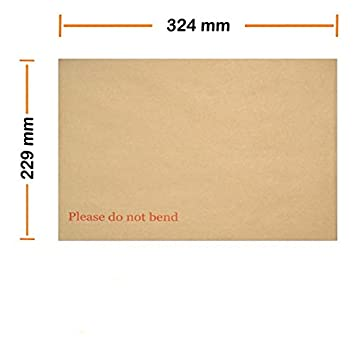 Board Backed Manilla Self Seal Premier Envelopes A4//C4 Please do not bend 5
