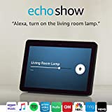 Echo Show (2nd Gen) with Echo Show Adjustable Stand and TP-Link simple set up smart plug