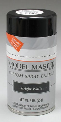 Testors Model Master Automotive Enamel Bright White Spray 1:0 Scale ()