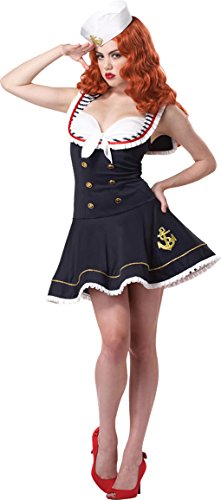 Nautical Doll Adult Costume (Pin Up Doll Halloween Costumes)