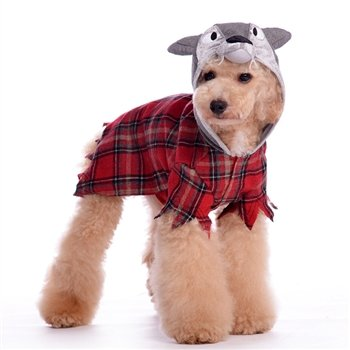 Werewolf Plaid Shirt for Dogs - -