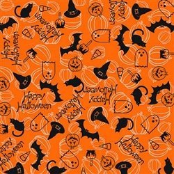 Halloween Dog Bandana (Orange Happy