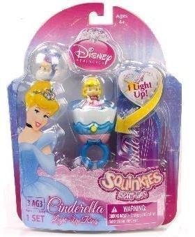Squinkies Disney Princess Cinderella Light Up Ring Set