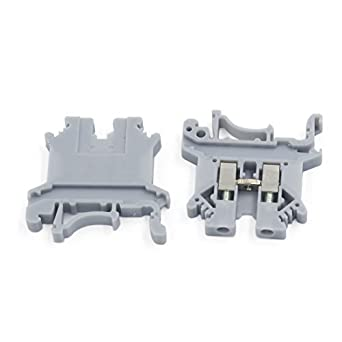 DealMux 800V 32A 2, 5mm2 UK2.5B plástico DIN Rail Terminal Bloco de cinza 2 Pcs: Amazon.com: Industrial & Scientific