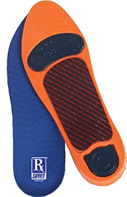 RxSorbo Sorbothane Ultra Orthotic Arch Insoles