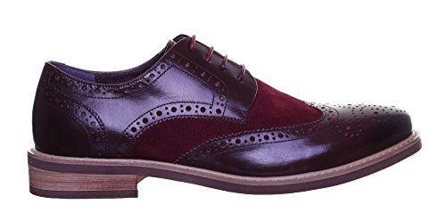 Justin Reece, Scarpe stringate uomo rosso Red Auditors Target Value