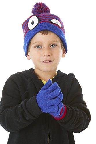Polar Wear Boy Monster Face Winter Knit Pom Pom