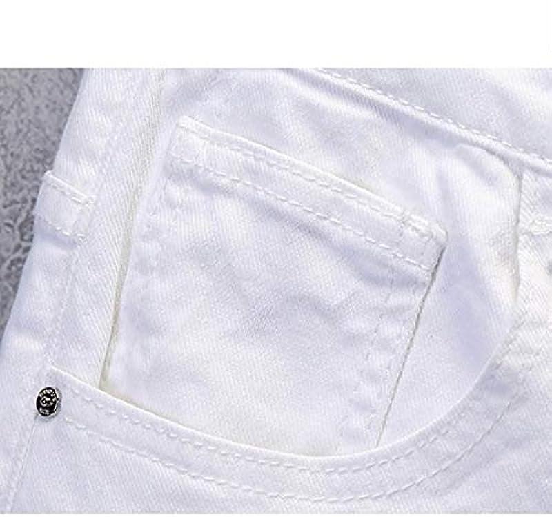 Skinny Jeans Męskie Solid White Stretch Denim Hosen Męskie Jeans Hosen: Odzież