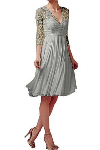 Topkleider - Vestido - Trapecio - para Mujer Plata