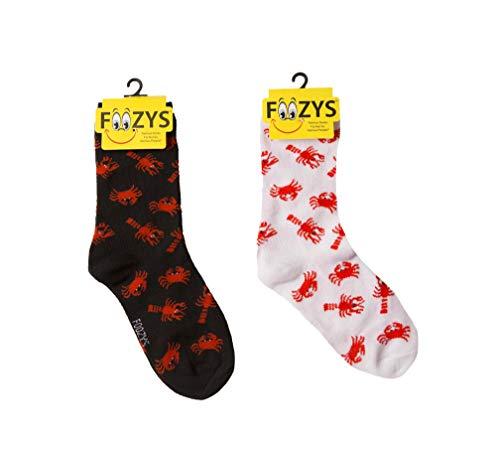 Foozys Women's Crew Socks | Lobsters & Crabs Island Oasis Novelty Socks | 2 ()