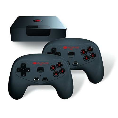GameStation Wireless – Plug & Play Mini Console – 2 Wireless Controllers & 300 Preloaded Retro Style Games – By My Arcade