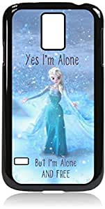 """Zheng case""""Yes, I'm Alone. But I'm Alone and Free.""""-Hard Black Plastic Snap - On Case-Galaxy s5 i9600 - Great Quality!"""