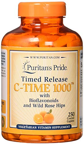 Puritans Pride Vitamin C-1000 mg with Rose Hips, 250 - Free Smoke 100 Tab
