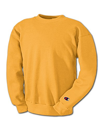 Champion Gold Crew Sweatshirt (Champion Adult 50/50 Crewneck Sweatshirt, Gold - Size 2X-Large)