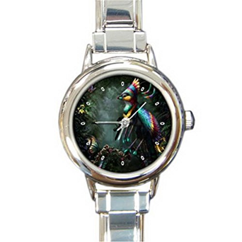 DIB100Colorful Queen Bird Italian charm wrist (Bird Italian Charm Watch)