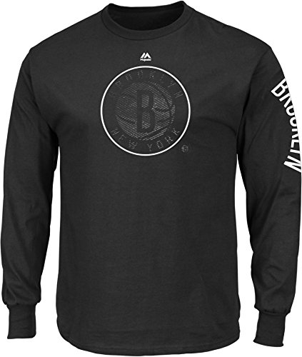 (NBA New Jersey Nets Men's Easy Choice Long Sleeve Basic Tee, XX-Large, Black)