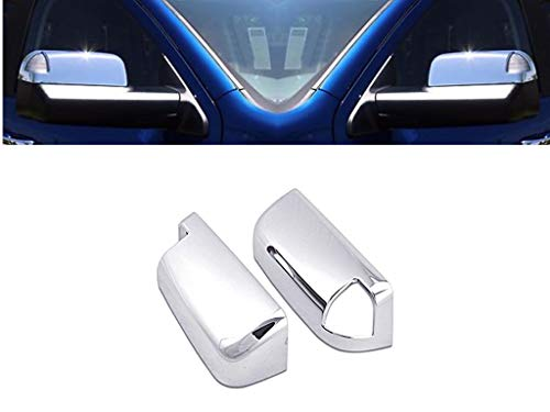 eLoveQ Chrome Top Half Mirror Covers Fits 2009-2017 Ram 1500, 2010-2017 Ram 2500 3500 W/Signal Cut Out