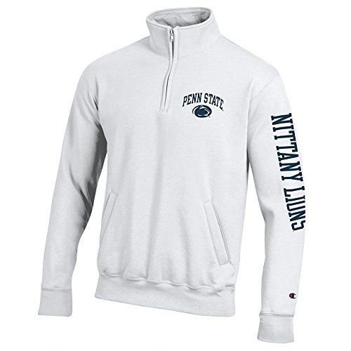 Penn State Nittany Lions Quarter Zip Sweatshirt Letterman White - M ()