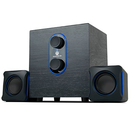 GOgroove LBr 2.1 USB Computer Speakers with Bass Subwoofer & Dual Stereo Satellite Speakers - Works with Apple iMac , HP Stream , Toshiba Satellite , Acer Chromebook & More Computers (Computer Speakers And Subwoofer)