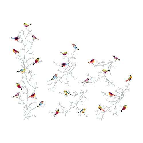 IKEA SLATTHULT - Decoration stickers, winter birds: Amazon co uk