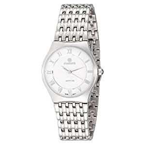 Starking Men's White Dial Stainless Steel Band Watch - BL0882SS11