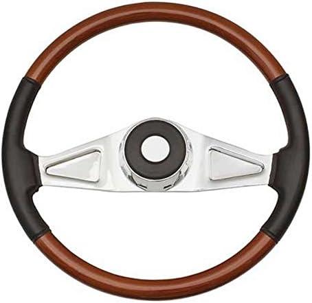 Beautiful African Hardwood Woodys WP-SWPB7598 Rosewood Chrome Truck Steering Wheel