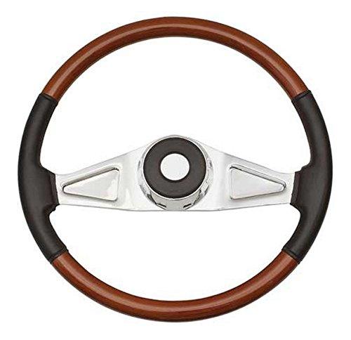 Woody's WP-SWPB9801L.2 Rosewood Chrome Truck Steering Wheel (Beautiful African Hardwood)