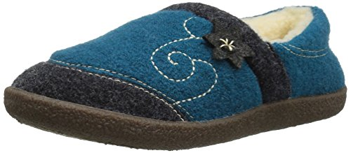 Acorn Women's Boiled Wool Edelweiss Slipper Moccasin Turquoise 6 M US