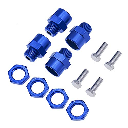 4pcs Aluminum 12mm Turn 17mm hex Wheel hub adapters 15mm Offset Extension for 1/10 Rc car Upgrade 1/8 -
