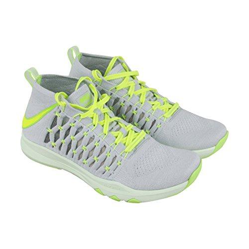 Nike Train Ultraveloce Flyknit Mens Scarpe Cross Training In Puro Platino Bianco