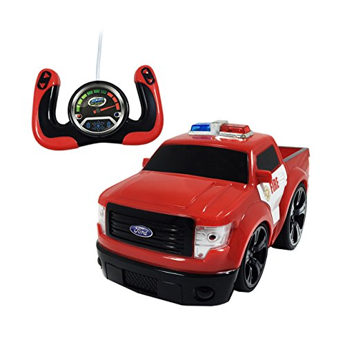 Remote Control Fire Truck Ford F-150 Pickup Truck - Learn To Turn, Spin, And Do A Wheelie! (F150 Remote Control compare prices)