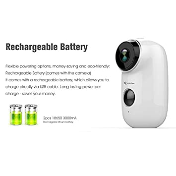 Adorbee WiFi Outdoor Security Camera Wireless – Rechargeable Battery Powered Video Surveillance System IP66 Waterproof CCTV House Monitor HD 720P