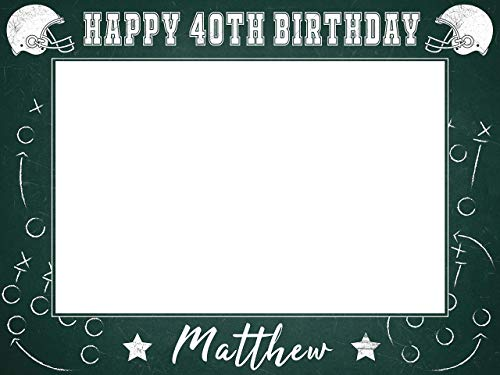 Football Birthday Party Photobooth Frame, Birthday Gift Ideas, Photo Booth Frame Prop, Party Favors, Football Props Photo Booth, American Football Decor, Handmade Party Supplies Photo Size 24x36,48x36 -