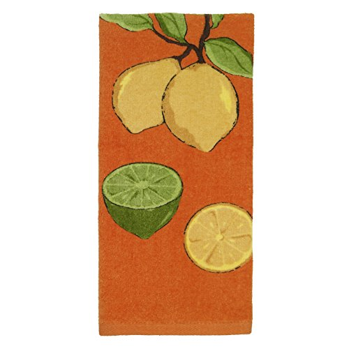 Kitchen Textiles (All-Clad Textiles 100-percent Cotton Fiber Reactive Lemon Print Kitchen Towel, 17-inch x 30-inch, Tangerine Orange)