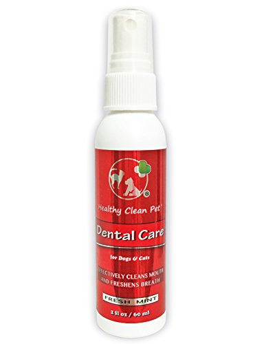Healthy Clean Pet Dog Breath Freshener - All Natural Spray for Stinky Pet Breath - Food & Water Additive Use for Daily Dental Care on Teeth and Gums