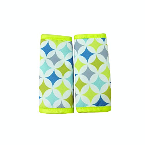 (Nuby Car Seat Reversible Strap Covers 2 Pack, Yellow)