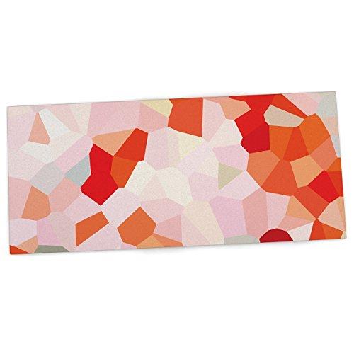 "KESS InHouse Iris Lehnhardt ""Oooh La La"" Orange Pixel Office Desk Mat, Blotter, Pad, Mousepad, 13 x 26-Inches"