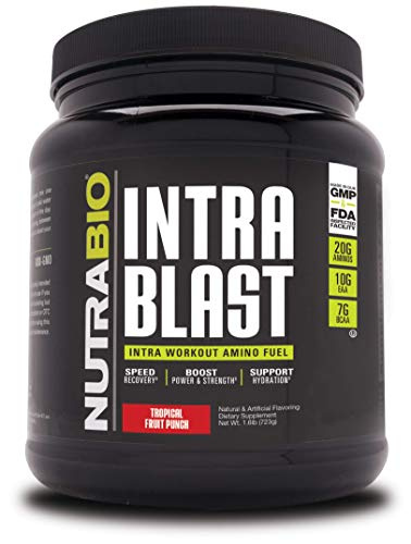 NutraBio Intra Blast - 30 Servings (Tropical Fruit Punch)