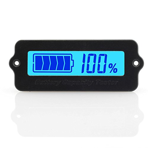 ToToT LY6W Battery Capacity Tester Monitor Universal Voltage-Type LCD Digital Display Power Module Indicator For 12V 24V 36V 48V Lead Acid Battery 3-15cells Lithium-Ion Battery Blue Light